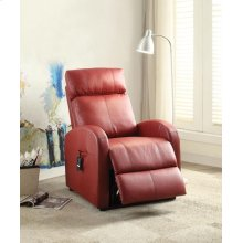 RED PU POWER LIFT RECLINER