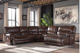 Killamey - Walnut 5 Piece Sectional Product Image