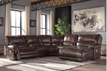 Killamey - Walnut 5 Piece Sectional