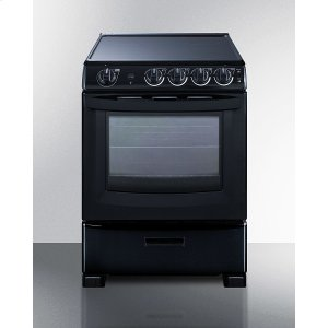 """Summit24"""" Wide Electric Smooth-top Range"""