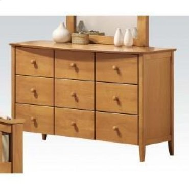 Maple Dresser W/6 Drawers