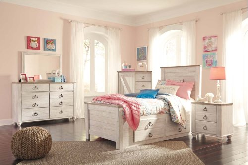 Willowton - White Wash 2 Piece Bedroom Set