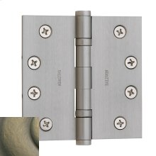 Satin Brass and Black Ball Bearing Hinge