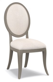 Living Room Darling Upholstered Oval Back Side Chair