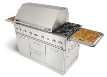 """Performance Series 52"""" Full Grill on Cart with 4 Drawers - 1 Rotisserie Burner, 3 Lights, 3 SS W-Burners, 1 Infrared-Zone Burner"""