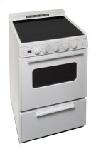 24 in. Freestanding Smooth Top Electric Range in White Product Image
