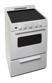 24 in. Freestanding Smooth Top Electric Range in White