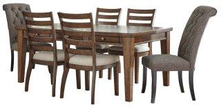 Flynnter Brown 7 Piece Dining Set