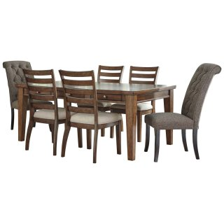 Flynnter Brown 7 Piece Dining Set