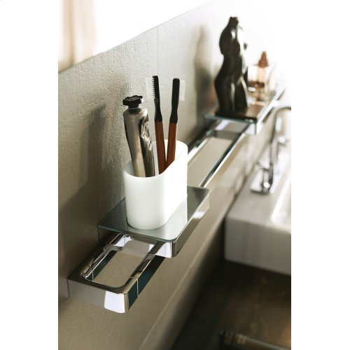 Brushed Brass Rail bath towel holder 600 mm