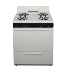 30 in. Freestanding Battery-Generated Spark Ignition Gas Range in Biscuit
