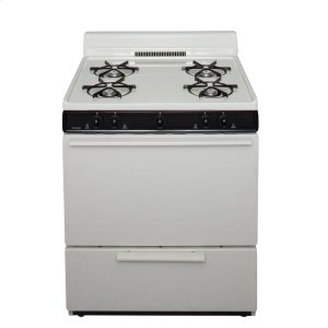 Premier30 in. Freestanding Battery-Generated Spark Ignition Gas Range in Biscuit