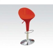 Rd/chrome Short Back ADJ.STOOL