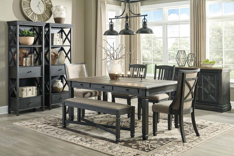 Hidden · Additional Tyler Creek   Black/Gray 6 Piece Dining Room Set