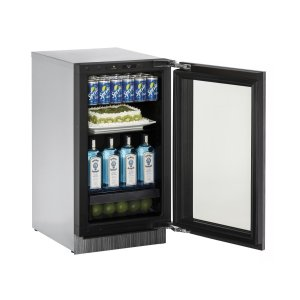 U-LineModular 3000 Series 45 Cm Glass Door Refrigerator With Integrated Frame Finish and Field Reversible Door Swing (220-240 Volts / 50 Hz)