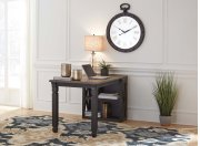 Tyler Creek - Grayish Brown/Black 2 Piece Home Office Set Product Image