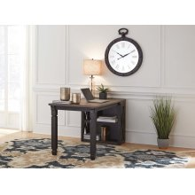Tyler Creek - Grayish Brown/Black 2 Piece Home Office Set