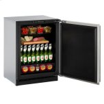 "U-LINE24"" Refrigerator With Stainless Solid Finish and Field Reversible Door Swing (115 V/60 Hz Volts /60 Hz Hz)"