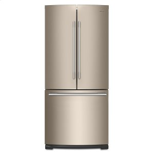 30-inch Wide Contemporary Handle French Door Refrigerator - 20 cu. ft. Fingerprint Resistant Sunset Bronze - FINGERPRINT RESISTANT SUNSET BRONZE