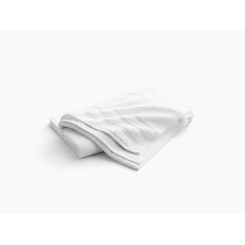 """White Bath Sheet With Terry Weave, 35"""" X 70"""""""