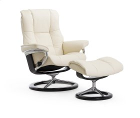 Stressless Mayfair Large Signature Base Chair and Ottoman