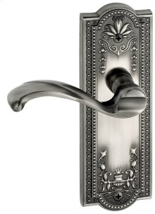 Grandeur - Dummy Left Handed Knob - Parthenon Plate with Portofino Lever in Antique Pewter