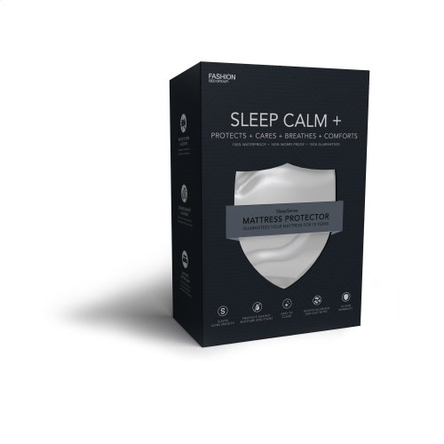 Sleep Calm + Ultra-Premium Mattress Protector Bed Sheet with Moisture and Bacteria Resistant Crypton Fabric, California King