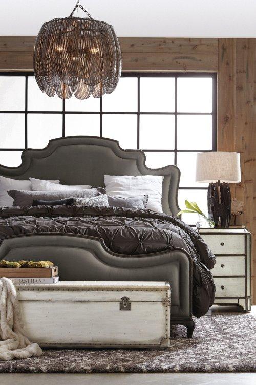 Bedroom Arabella King Upholstered Panel Bed