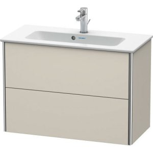 Vanity Unit Wall-mounted Compact, Taupe Matt (decor)