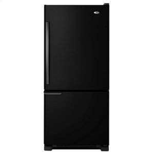 Amana29-inch Wide Bottom-Freezer Refrigerator with Garden Fresh Crisper Bins -- 18 cu. ft. Capacity - Black