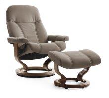 Stressless Consul Medium Classic Base Chair and Ottoman