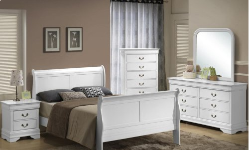 5939 Classic Twin BED COMPLETE; Twin HB, FB, Rails & Slats