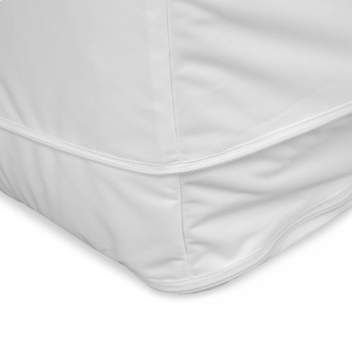 Sleep Calm Easy Zip Expandable Mattress Encasement with Stain and Dust Mite Defense, Full