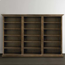 Emporium Smoked Oak Compass Tall Triple Open Bookcase