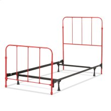 Nolan Complete Kids Bed with Metal Duo Panels, Candy Red Finish, Twin