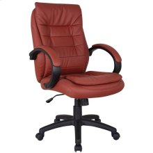 RED PU OFFICE CHAIR