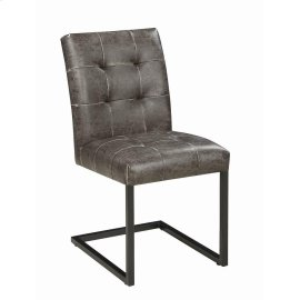 Industrial Dark Brown Dining Side Chair