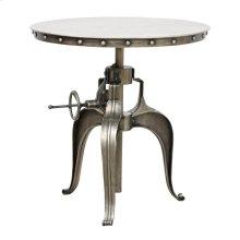 """Afton Crank Table 30"""" Nickel"""