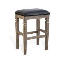 """30""""H Pinehurst Backless Stool, Cushion Seat"""