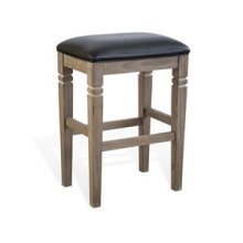 "30""H Pinehurst Backless Stool, Cushion Seat"