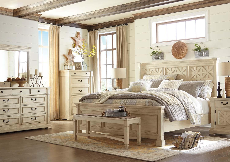 Bolanburg   Antique White 3 Piece Bed Set (King)