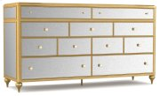 Bedroom Bewitch Nine-Drawer Mirrored Dresser Product Image