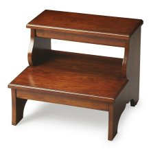 This artisan-crafted step stool was designed to provide that extra step-up. Equally well-suited for use beside the bed, in the den or kitchen, it may be used wherever a little extra reach is needed. It is crafted from select hardwood solids, wood products