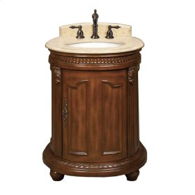 Belle Foret 25 in. W Vanity in Dark Cherry with Marble Vanity Top in Cream