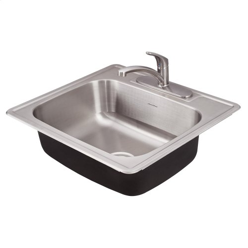 Colony ADA 25x22 Single Bowl Kitchen Sink Kit  American Standard - Stainless Steel