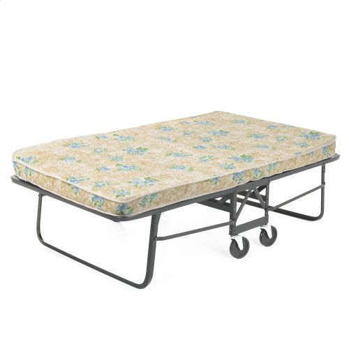 """Rollaway 1291P Folding Bed and 39"""" Fiber Mattress with Angle Steel Frame and Poly Deck Sleeping Surface, 38"""" x 75"""""""