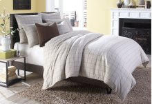 7 Pc Queen Duvet Set Creme