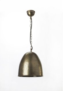 This distinctive single light pendant is an attractive accent in virtually any space. Featuring a nickel finish, it is hand crafted from cast aluminum.