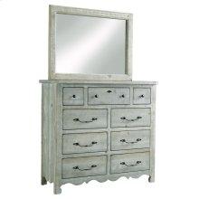 Tall Dresser \u0026 Mirror - Mint Finish