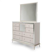 Upholstered Dresser & Mirror (2pc)